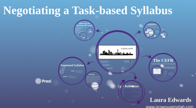 Negotiating a task-based syllabus – ELT Ireland talk